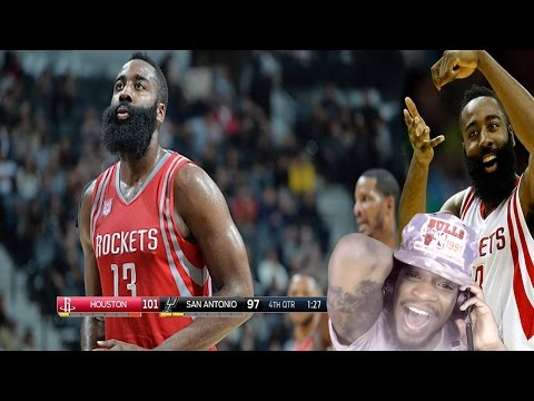HARDEN BEST PG IN THE NBA!? SAN ANTONIO SPURS vs HOUSTON ROCKETS FULL HIGHLIGHTS REACTION!