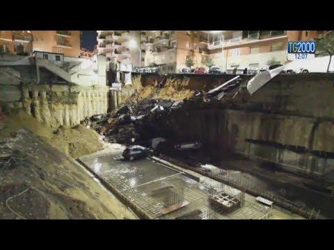Roma, voragine nel quartiere Balduina inghiotte 6 auto. Famiglie evacuate