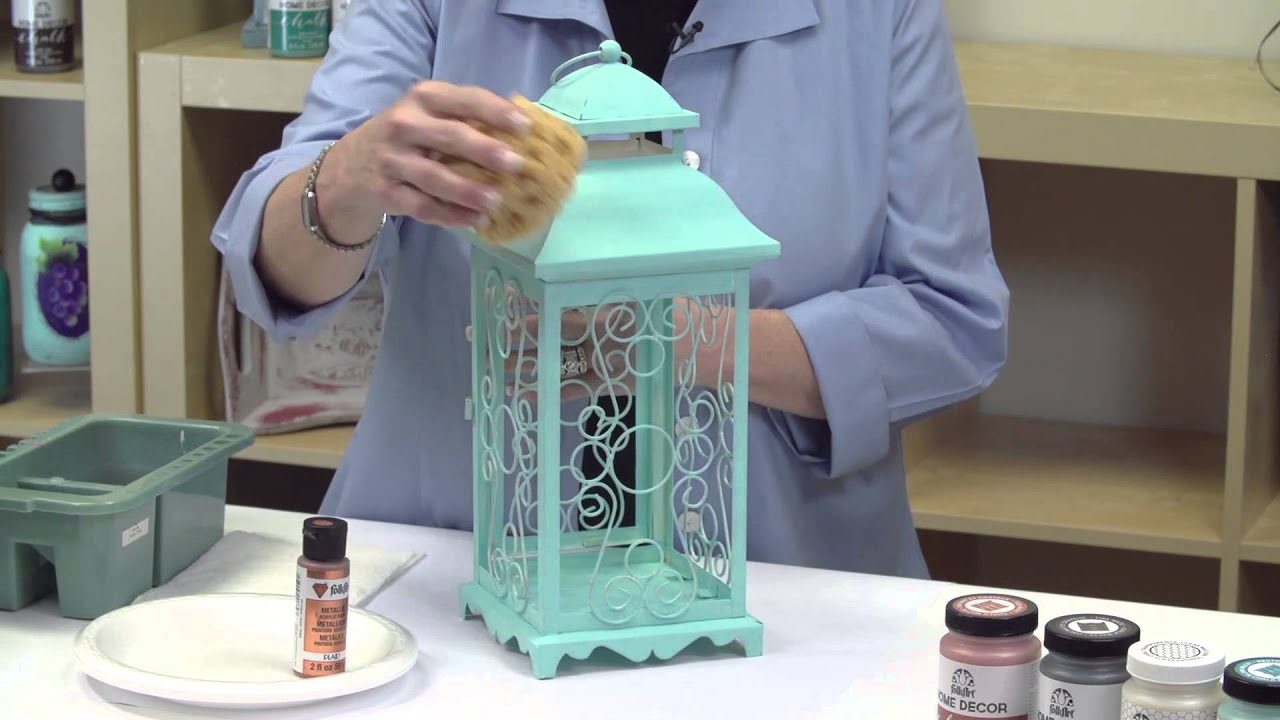 FolkArt Home Decor: How To Create A Faux Patina Finish