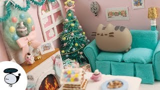 Pusheen Christmas Miniature Dollhouse