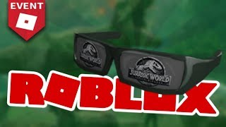 How to Get the Jurassic World Sunglasses! (Roblox Promo Code 2018)