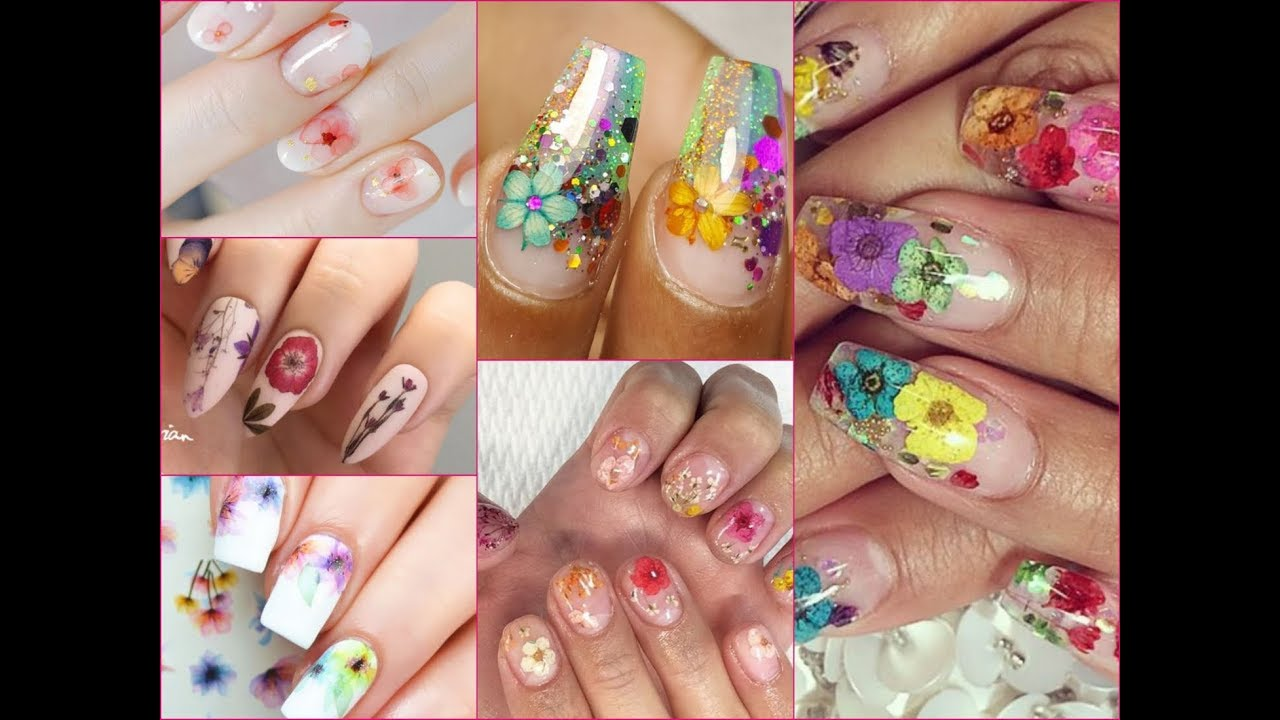 Inspiring Dried Flower Nail Art Ideas For Summer 2018 Youtube