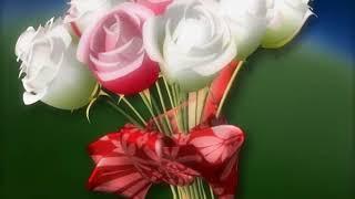 Цветы вращаются - футаж для свадебного видео