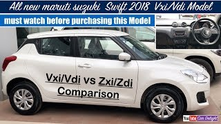 Swift 2018 Vxi,Vdi Model Review | New Swift 2018 Vxi/Vdi Features,Interior and Exterior