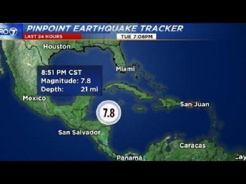 MAJOR QUAKE 7.6-7.8 HONDURAS   ***Tsunami Warnings ISSUED***  1/9/18