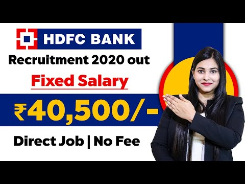 Private bank recruitment 2020 | Hdfc jobs 2020 | jobs For 12th pass Fresher | Latest jobs