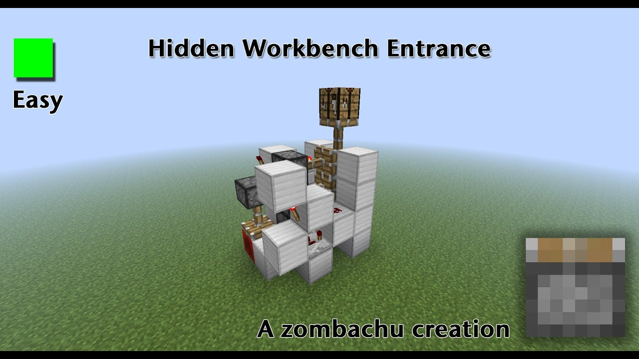 Secret Hidden Crafting Table Entrance Youtube