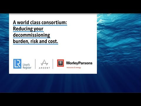 A world class consortium: Reducing your decommissioning burden, risk and cost.