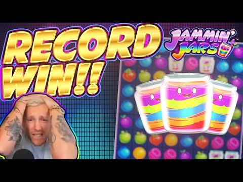 RECORD WIN!!!! Jammin Jars BIG WIN - INSANE WIN on Casino Game - 동영상