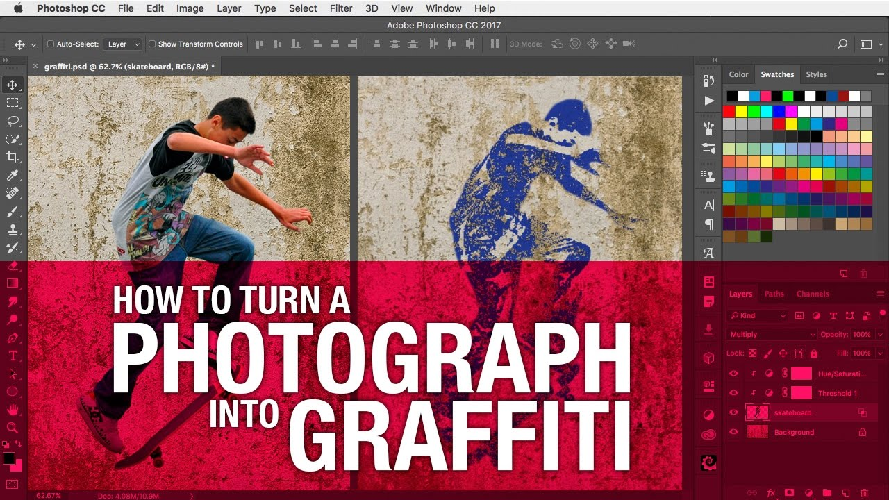How to turn a photo into graffiti