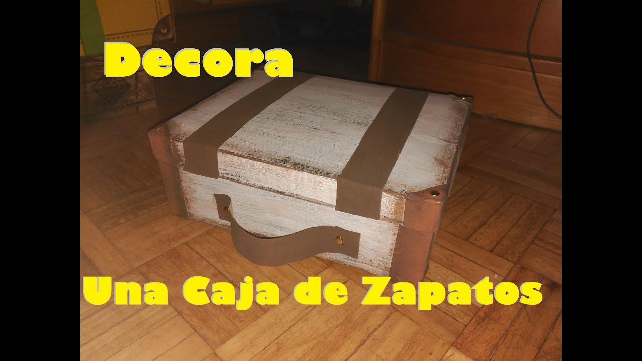 Recicla una caja de zapatos en una maleta manualidades - Decorar cajas de zapatos ...