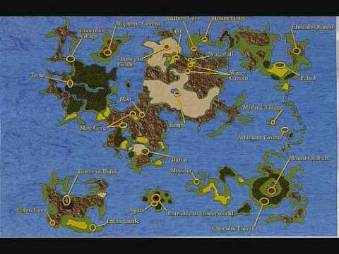 Final Fantasy World Map 1 to 5