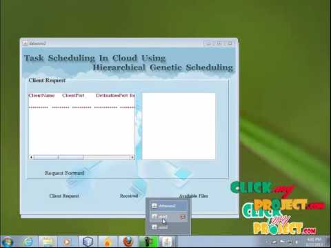 Final Year Projects | Cloud Computing Task Scheduling Using Hierarchical Genetic Scheduling