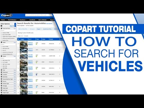 Auto Auction | Watchlists - Copart USA