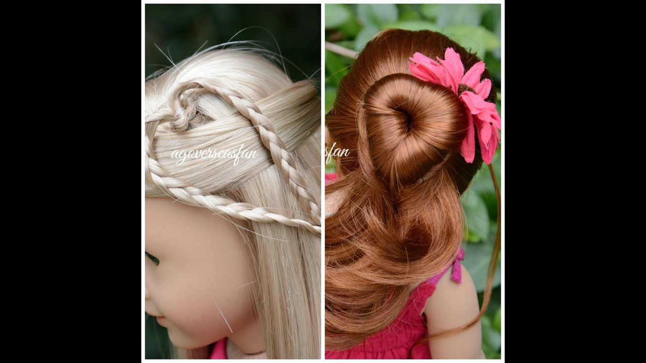 American Girl Doll Hairstyles YouTube - Hairstyles for dolls with long hair