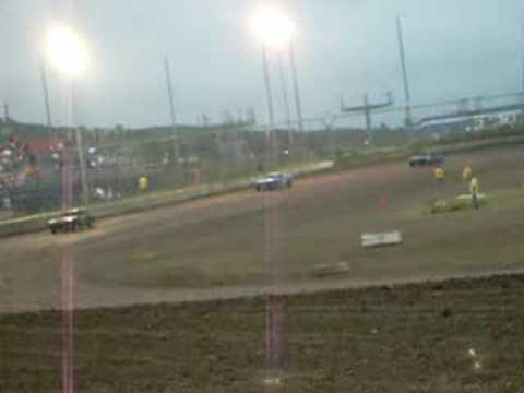Creek County Speedway mini stock heat race 7-12