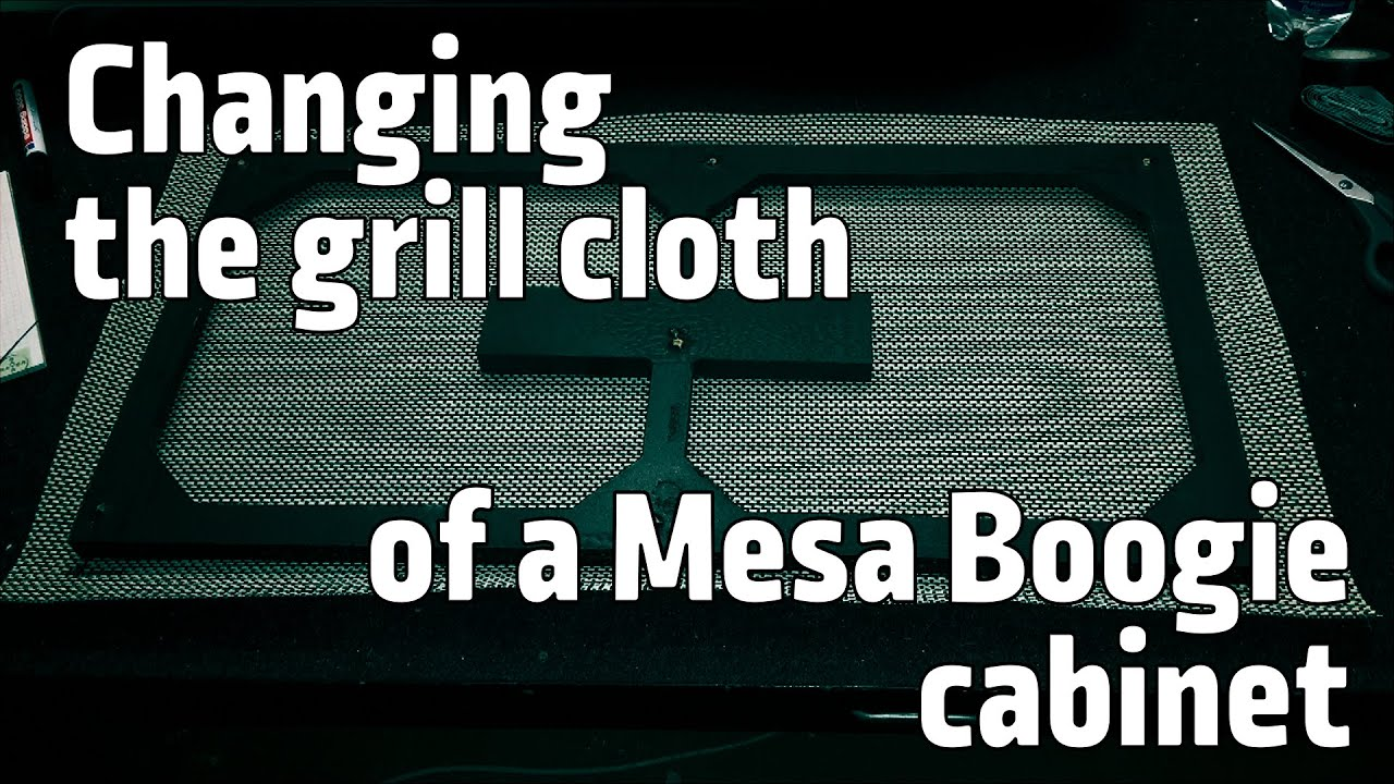 Changing the grill cloth of my Mesa Boogie 2x12 cabinet - YouTube