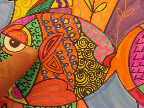 Picasso Cubist Fish by Lorri