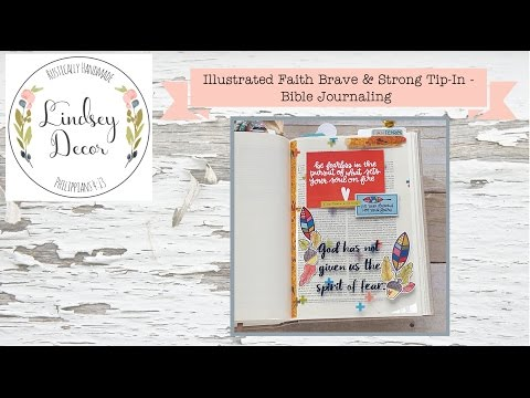 Illustrated Faith Brave & Strong Tip-In - Bible Journaling