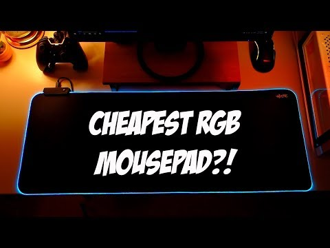 Tecware Haste XL RGB Mousepad Review with Closeup Shots!