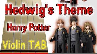 Hedwig's Theme - Harry Potter - Violin - Play Along Tab Tutorial