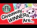 DrawSoCute Starbucks Gift Card Winners + Fan Art