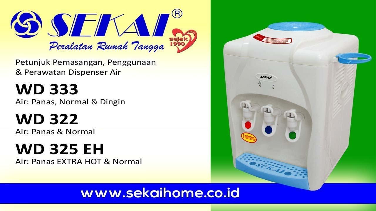 Petunjuk Pemasangan Penggunaan Perawatan Dispenser Wd 333 322 Sanken Hwd C200ss Gratis Biaya Pengiriman 325 Eh