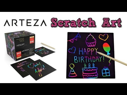 DIY Scratch Off Art Greeting Card Messages Notes ✨