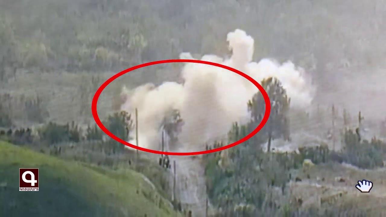 Թշնամու կենդանի ուժի ոչնչացումը ՊԲ հրետանու դիպուկ կրակով. ՊԲ-ի տեսանյութը
