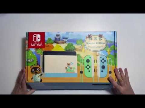 Animal Crossing Limited Edition Nintendo Switch Unboxing ...