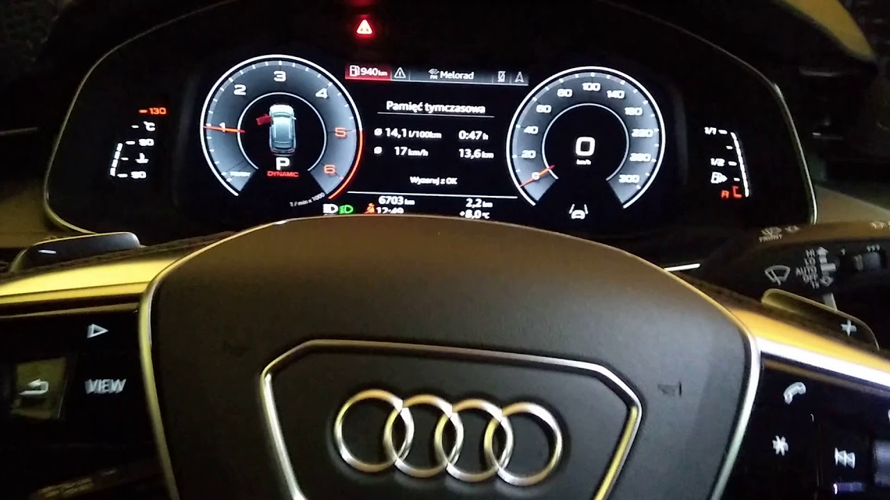 New Audi A6 Interior At Night Youtube