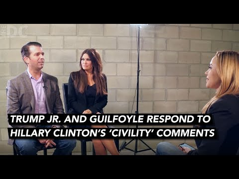 Donald Trump Jr. & Guilfoyle Respond To Hillary Clinton's 'Civility' Comments