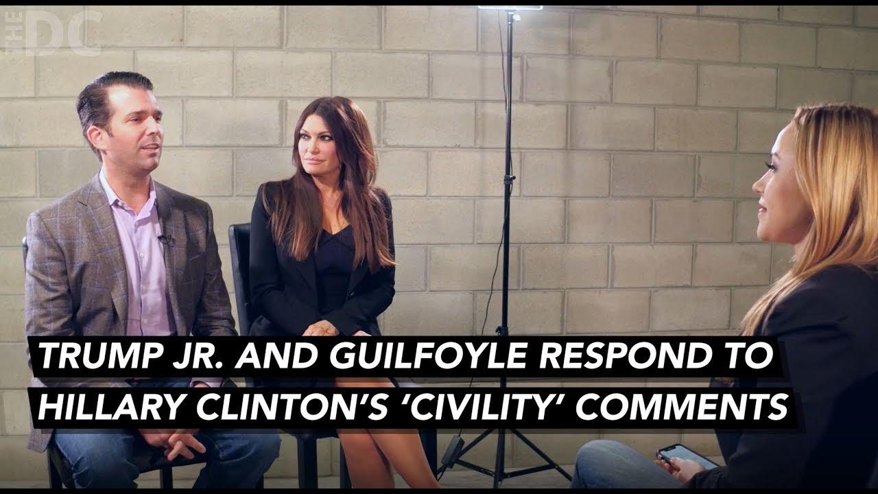 Donald Trump Jr. & Guilfoyle Respond To Hillary Clinton's 'Civility' Comments