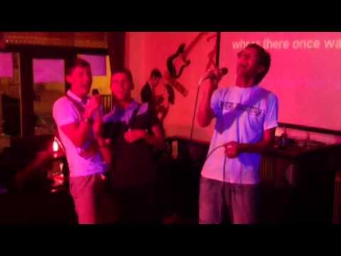 Karaoke Fun at Red Lion Bar Can Picafort Majorca. 2013.
