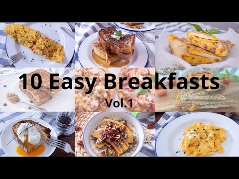 Top 10 Easy Breakfast   10道簡易早餐 Breakfast Recipes   早餐食譜