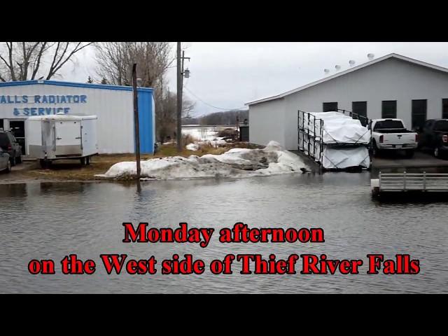Flooding near TRF on April 8, 2019