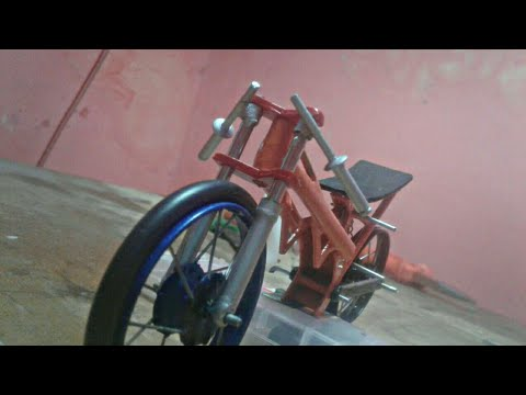 Cara Membuat Setang Miniatur Motor Drag Youtube