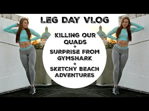 Killer Quad Workout | Gymshark Surprises | Sketchy Beach Adventures | Leg Day Vlog