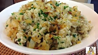 Amy's Baked Mushroom Risotto With Caramelized Onions