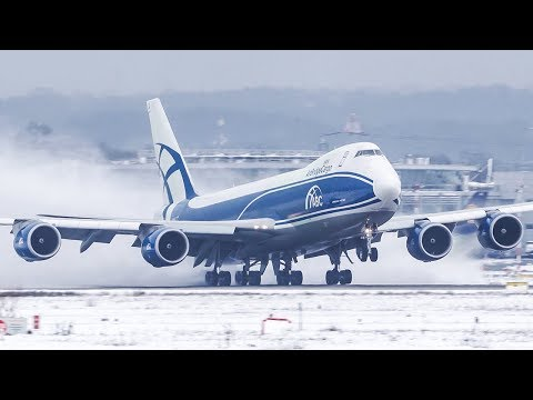 Cargospotter 2017 - 45 Minutes of AVIATION - AIRBUS A380, BOEING 747 - DUS MIX