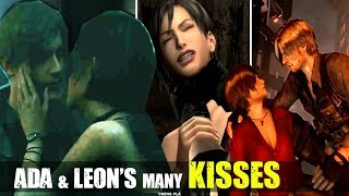 Ada Wong Flirts & Kisses Leon Kennedy Through The Years (1998 - 2019) - Resident Evil 2 Remake
