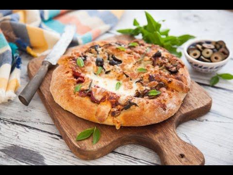 عجينة البيتزا الصحية  +بيتزا الأجبان الاربعة + بيتزا الفصول الاربعة  - مطبخ اسيا ج2