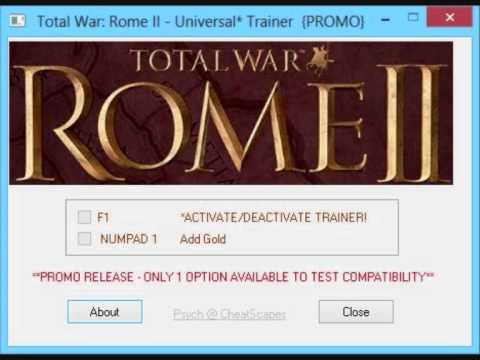 Тренер Total War Rome 2 V 2.2.0.0
