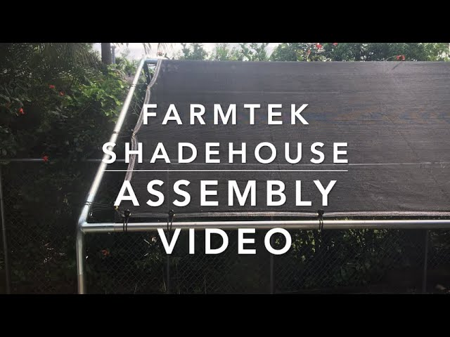 Build Some Shade - FarmTek 70% Backyard Shade House Assembly - Part 1