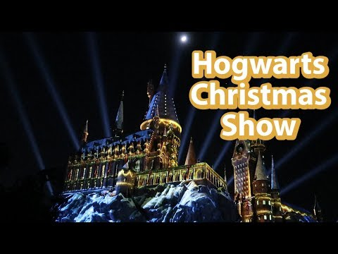 [Show] Harry Potter Hogwarts Castle Christmas Show at Universal Orlando