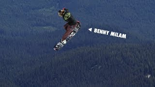 How to do a Frontside Crail Grab with Benny Milam   TransWorld SNOWboarding Grab Directory
