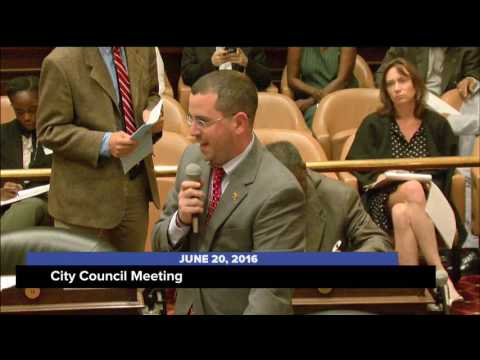 City Council Meeting; June 20, 2016