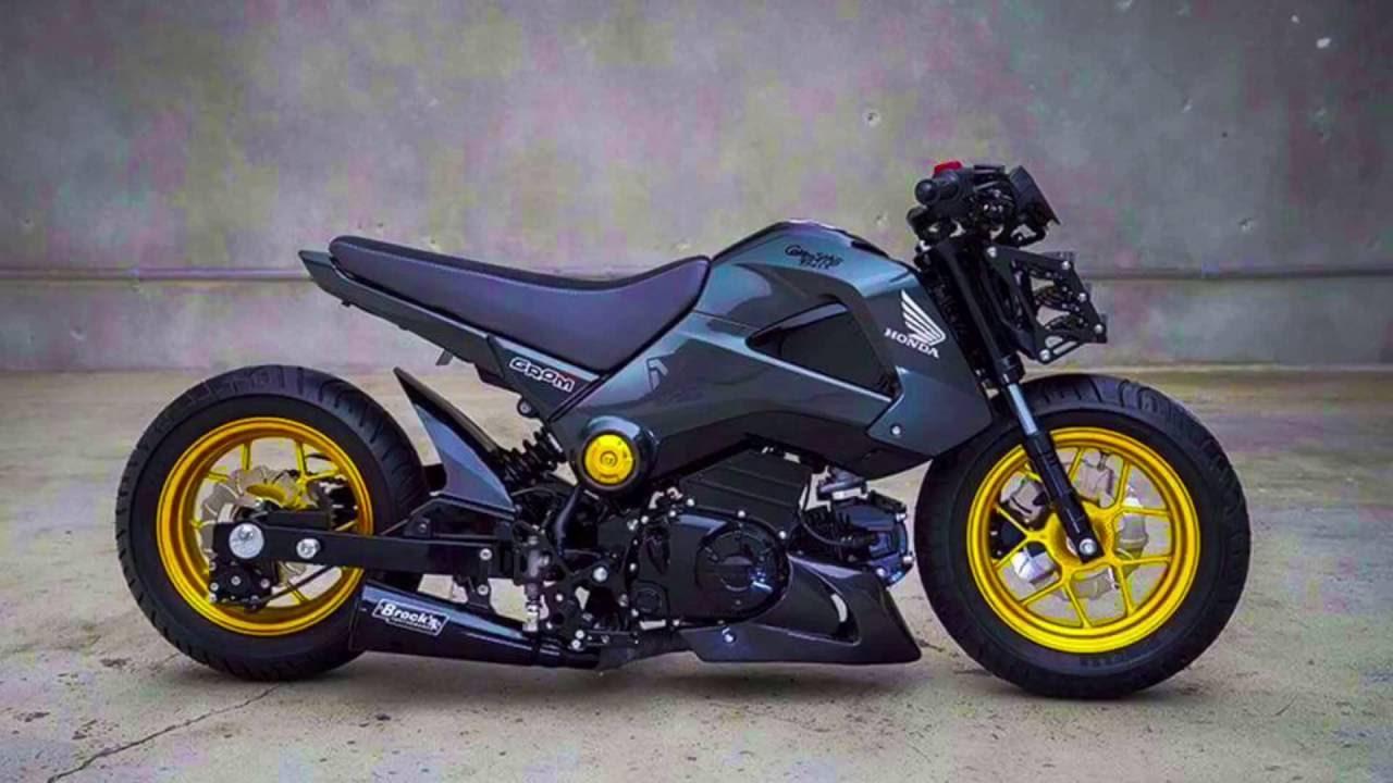 2015 Honda Grom >> Honda grom Msx modified bike 2016 - YouTube