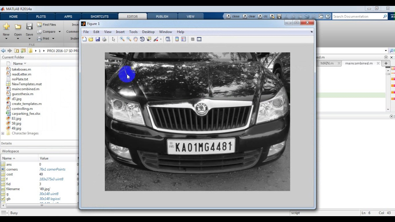 Automated Car parking fee using Matlab Code || Best IEEE projects  consultants at Bangalore