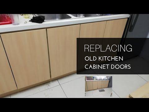 Diy Replacing Old Kitchen Doors Cabinet Making Modular Tutorial Tagalog Filipino Youtube